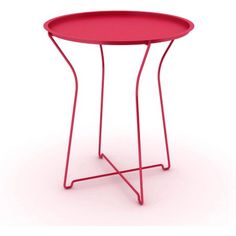 Atlantic Furniture Metal Portable Side Table, Red
