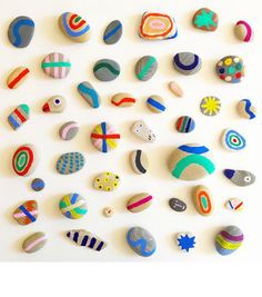 Colorful pebbles by Mary Matson.