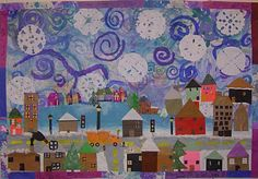 Art With Mr. E: Winter Mural: K - 2nd;  I'm thinking our Winter Wonderland unit with Katy and the Big Snow...