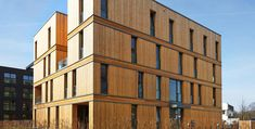Wood Architecture Cross laminated timber (CLT): Australia's rising star – and where to get it . Timber Architecture, Timber Buildings, Architecture Design, Montreal Architecture, Wooden Skyscraper, Casas Containers, Timber Cladding, Interesting Buildings, Wood Construction