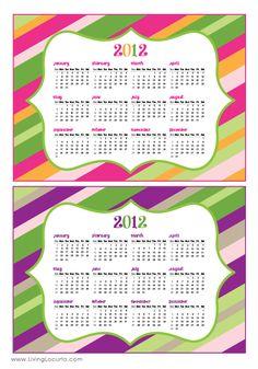 Free 2012 Calendars