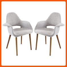 Modway Aegis Dining Armchair Set of 2 in Light Gray - Improve your home (*Amazon Partner-Link)