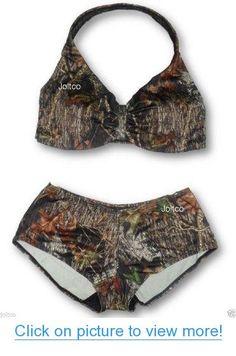 Cute Mossy Oak Camo Halter Top $ Boyshorts Swim Suit Set