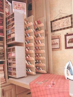 Nancy Halvorsen's custom storage cupboard