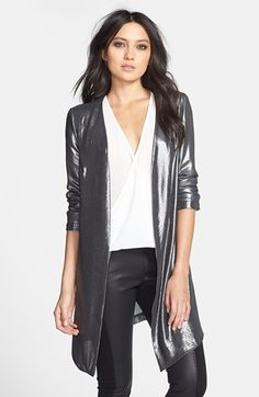 ASTR Open Front Metallic Jacket available at #Nordstrom