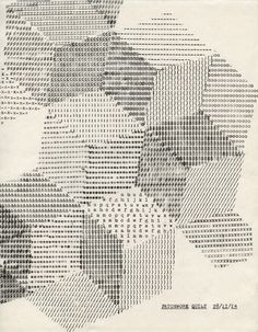 Typewriter Drawing - Patchwork Quilt, 2014, Lenka Clayton www.lenkaclayton.com