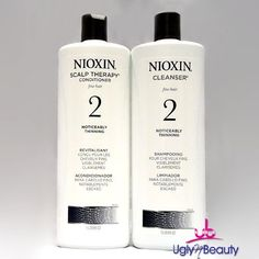 Nioxin System 2 Cleanser and Scalp Therapy for Fine Thinning Hair Duo 33.8 oz ** Read more reviews of the product by visiting the link on the image.