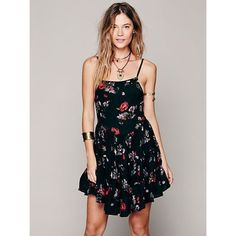 Free People Circle of Flowers Slip Trapeze Slip with Lace Up Back Detail Free People Dresses