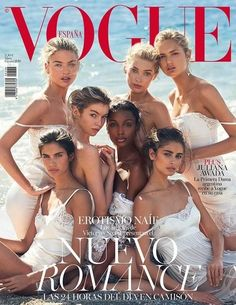 Angels Martha Hunt Elsa Hosk Romee Strijd Stella Maxwell Jasmine Tookes Sara Sampaio & Taylor Hill On the cover of Vogue Spain May 2016 Issue - Victoria Secret Angels, Victoria Secret Fashion, Victorias Secret Models, Victoria Models, Jasmine Tookes, Vogue Covers, Vogue Magazine Covers, Sara Sampaio, Martha Hunt