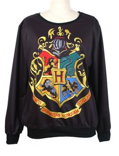 Pink Queen Fashion Harry Potter Hogwarts Crest Pullover Sweater Sweatshirt http://www.amazon.com/exec/obidos/ASIN/B00HA0L7SM/hpb2-20/ASIN/B00HA0L7SM