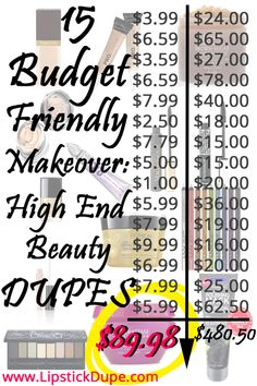 Budget Friendly Makeover for Valentine's Day- High End Beauty Dupes! | Lipstick Dupe