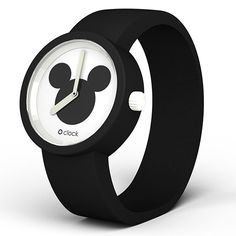 Zestaw O clock Czarny / Disney Mickey | pasek + mechanizm