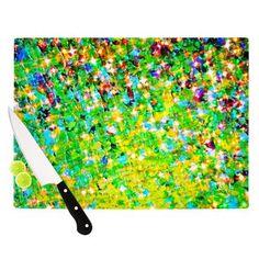 "KESS InHouse Holiday Cheer by Ebi Emporium Cutting Board Size: 0.5"" H x 1"