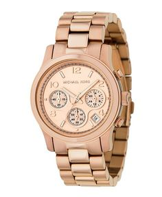 Michael Korse rose gold watch. have and love!