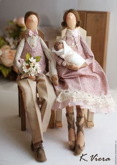 Tilda Family dolls / Куклы Тильда, семья — работа дня на Ярмарке Мастеров…