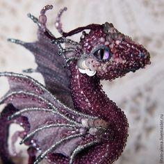 "Buy Brooch dragon ""Sea butterfly"". Brooch beads. Embroidered dragon - brooch, copyright brooch"