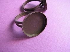 16 mm Adjustable Bezel Ring Base Copper by Turkeysupply http://etsy.me/1F9J7cy #jewelry #ring #mount #brass #jewel #gem #bezel #setting