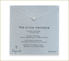 "A ""best seller"" for years! @DogearedJewelry Circle necklace. Simple yet chic!"