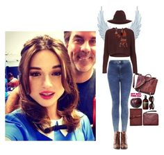 """""""#DAY17 (Crystal Reed)"""" by hastings-23 ❤ liked on Polyvore featuring Topshop, IL BISONTE, Aesop, Sabre Vision, Liz Claiborne, Miss Selfridge, Acne Studios and SO"""