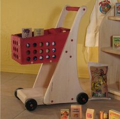 Child's All Wood Shopping Cart