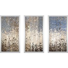 U0027Wake Up U0027 3 Piece Gallery Wrapped Canvas Art Set ($95) ❤ Liked On Polyvore  Featuring Home, Home Decor, Wall Art, White, Canvas Paintings, White Pau2026