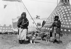 Blood Women with Dog Travois,Fort  MacLeod, Alberta - 1920's