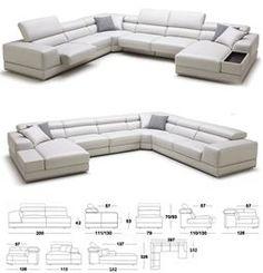 **KUKA Full Leather Corner U-Shape Lounge Suite