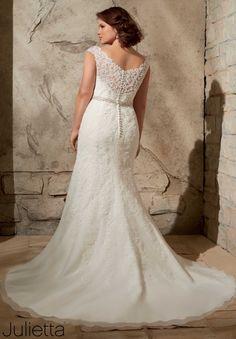 7d4740fe001b 3172 vestidos de casamento   Vestidos Alençon Lace apliques na Net com o  Crystal Beading Curvy