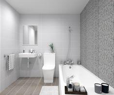 Propuesta para baño principal con bañera y combinación de tres porcelánicos. Está disponible para varias promociones de obra nueva. Alcove, Bathtub, Bathroom, Master Bathroom, Houses, Proposal, Budget, Kitchens, Standing Bath