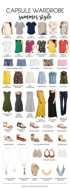 Summer Capsule Wardrobe List
