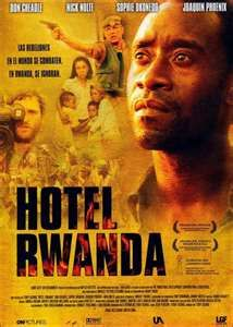 Hotel Rwanda.  Truly a heartbreaking but inspiring movie.  One of my favorite films of all time!