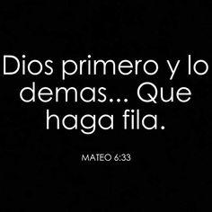 Dios primero!! Encomienda á Jehová tu camino, Y espera en él; y él hará. Salmos 37:5 #bendiciones #amen
