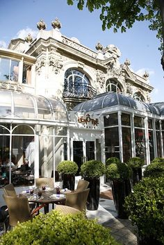 Café LeNôtre, Champs Elysées, Paris. Of all the places I ate in Paris the hotel staff thought this was the best... I agree!
