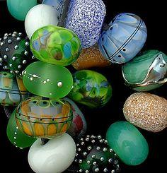 DSG Beads Handmade Organic Lampwork Glass Summer Forest | eBay