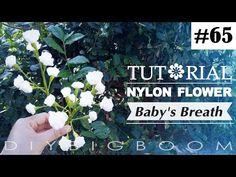 Nylon stocking flowers tutorial #65, How to make nylon stocking flower step by step - YouTube