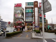 Another view of KFC and Mickey D's.There used to be a good yakatori stand near KFC.