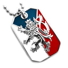 Shop, Necklaces, Pendants, CZECH REPUBLIC FLAG BOHEMIAN LION COAT ARMS PENDANT DOG TAG NECKLACE NICKEL FREE - CT117097T3R  #Necklaces #style #Accessories #jewelry #fashion #shopping #Pendants Republic Symbol, Czech Tattoo, Czech Republic Flag, Fashion Necklace, Fashion Jewelry, Jewelry Sets, Fine Jewelry, Dog Tags, Dog Tag Necklace