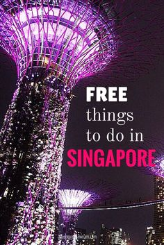 Free things to do in Singapore - definitely going to check all these out when I am there next month. www.digitalnomad.directory