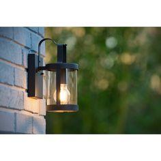 Outdoor Sconces, Outdoor Wall Lantern, Outdoor Wall Lighting, Outdoor Walls, Outside Lights On House, Modern Fence Design, Exterior Wall Light, Le Tube, Lamp Socket