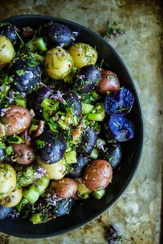 Yes, Delicious Blue Food Really Does Exist: red white and blue potato salad