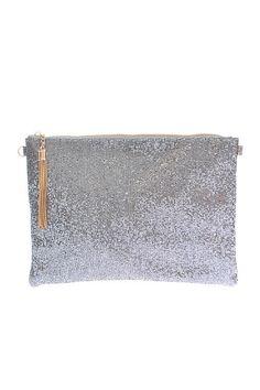 Insta Glam Metallic Clutch - Silver