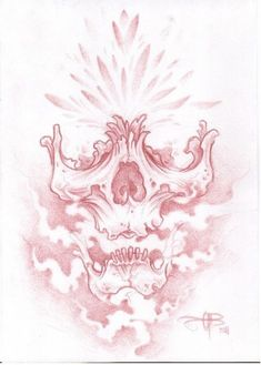 I draw alot of skulls, I guess there kind of my thing. this is a bit different to my normal ones. pencil and fineliner on catridge paper. Skull Tattoo Design, Tattoo Design Drawings, Cool Art Drawings, Skull Design, Tattoo Sketches, Art Sketches, Drawings Of Skulls, Hai Tattoos, Skull Tattoos
