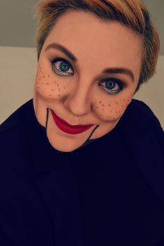 Ventriloquist Doll Halloween Makeup.