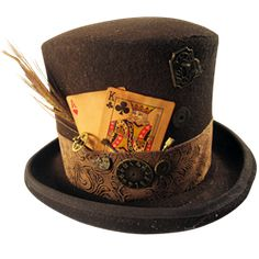 Dark Knight Armoury - Mens Gambling Steampunk Top Hat