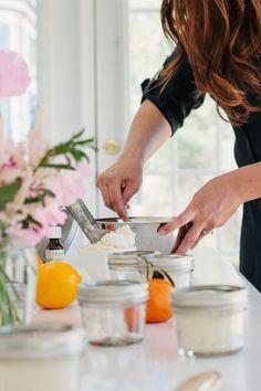 Christmas gift sugar scrub recipe  - orange clove natural sugar scrub