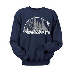 Hogwarts Castle Blue Crewneck Sweatshirt. Hogwarts door MuggleMart