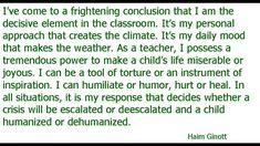 Haim Ginott, I know. I forgot. | Tina K Meyer
