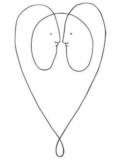 Line drawing by Lurk - Frankie Magazine Australia 2008. Line drawing. Line tattoo. Line tattoo ideas. Gorgeous.