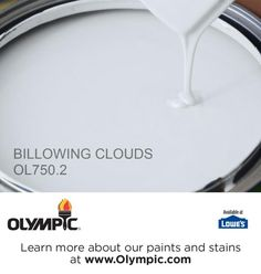 BILLOWING CLOUDS OL750.2 is a part of the blues collection by Olympic® Paint. Downstairs living room