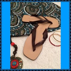 EDDIE BAUER SANDALS EDDIE BAUER GENUINE LEATHER THONG SANDALS...LEATHER UPPERS AND LEATHER SOLES...MADE IN ITALY...COME WITH AN EDDIE BAUER DUST BAG!!!....VERY GOOD CONDITION AND ONLY WORN TWICE!!...TRUE TO SIZE!!!...NO TRADES...NO PAYPAL!!! Eddie Bauer Shoes Sandals